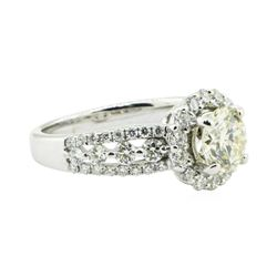 1.88 ctw Diamond Engagement Ring - 18KT White Gold