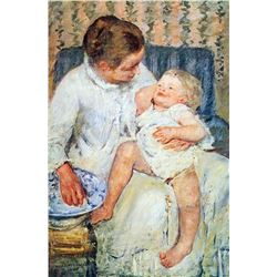 Mary Cassatt - Mother Washing The Tired Child