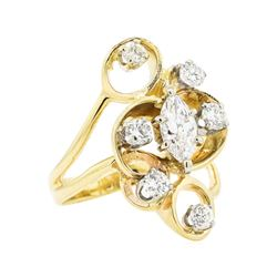 1.51 ctw Diamond Ring - 14KT Yellow Gold