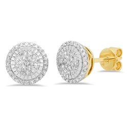 14k Gold 0.3CTW Diamond Earrings, (I1-I2/G-H)