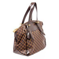 Louis Vuitton Damier Ebene Canvas Leather Verona GM Bag