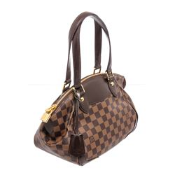 Louis Vuitton Damier Ebene Canvas Leather Verona PM Bag