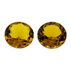 10.86 ctw.Natural Round Cut Citrine Quartz Parcel of Two
