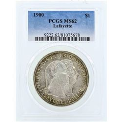 1900 $1 Lafayette Commemorative Dollar Coin PCGS MS62