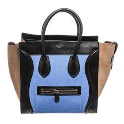 Celine Bicolor Nubuck Phantom Tote Bag