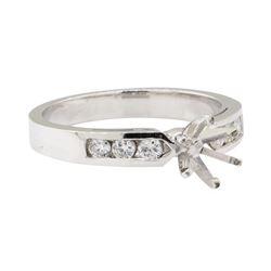 0.25 ctw Diamond Semi-Mount Ring - 14KT White Gold