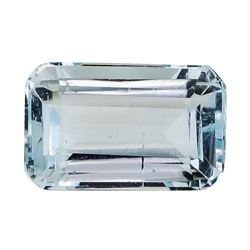 1.93 ct.Natural Emerald Cut Aquamarine
