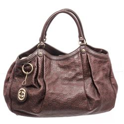 Gucci Brown Guccissima Leather Sukey Large Tote Bag