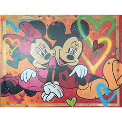 "Paulina Del Mar ""Minnie and Mickey Mouse Huge Canvas"""