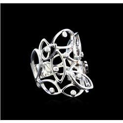 0.13 ctw Diamond Ring - 14KT White Gold