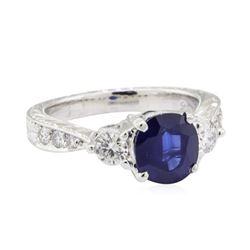 1.99 ctw Sapphire and Diamond Ring - Platinum