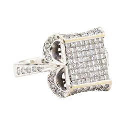 2.02 ctw Diamond Ring - 18KT White Gold