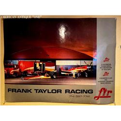 71cm Frank Taylor Racing poster