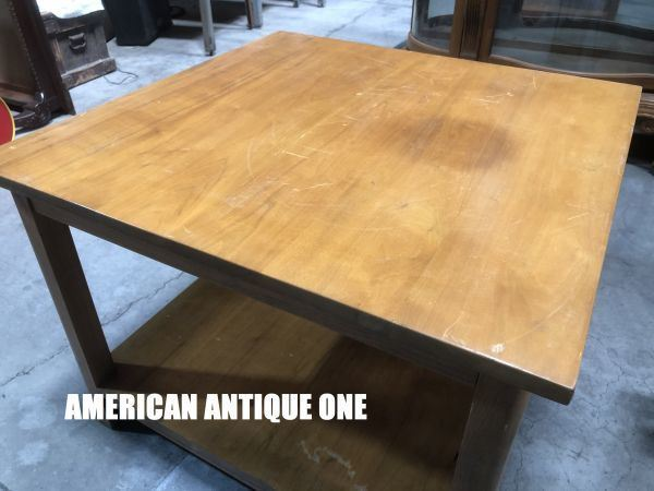 Simple Design 76cm Center Table Wooden American Antique One