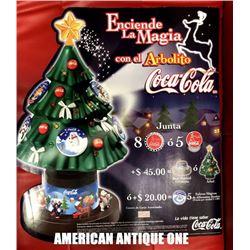 "USA Coca-Cola 2001 53cm Christmas Tree Displayposter ""HOLA"""