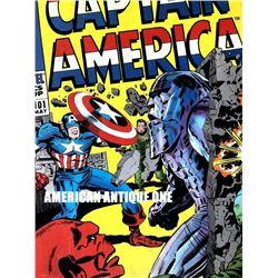 49cm Captain America Marvel Wooden Sign