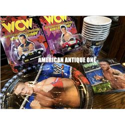 1998-2012 [WCW] Minicar & Table napkin, Paper plate, Paper cup