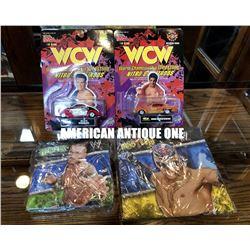 4-piece set 1998, 2011 [WCW] Minicar / [Ray Mysterio Junior & Randy Orton] Table napkin