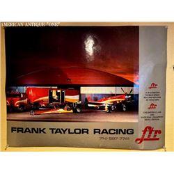 71cm Frank Taylor Racing poster