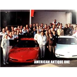 Commemorative photo of Mr. Corvette Dick Gardstrand