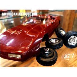 1988 Corvette Roadster die-cast parts 4 tires & body