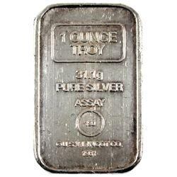 Vintage 1981 A-Mark 1oz .999 Fine Silver U.S.V.I. Ingot Co. Bar Ingot. (TAX Exempt)