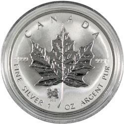 2006 Canada 1oz fine silver reverse proof privy mark year of the Dog. Coin come encapsulated. (tax e
