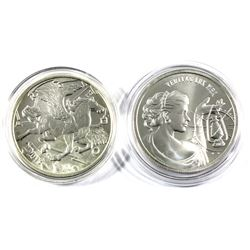 Pair of 1oz fine Silver rounds. Lot includes:  Truth is my Light round and a 2013 Gold silver round
