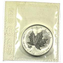 2002 1oz Privy Mark Horse reverse Proof Silver Maple Leafe Still sealed in original Mint Pliofilm.