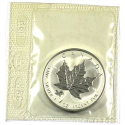 2002 1oz Privy Mark Horse reverse Proof Silver Maple Leafe Still sealed in original Mint Pliofilm.