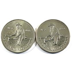 Pair of 1oz American Prospector Pure Silver Rounds. Lot includes a 1984 & 1985 Issue. 2pc (Tax Exemp