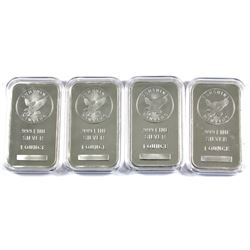 1oz Sunshine Minting .999 Fine Silver Bars in Capsules (Scratched capsules). 2pcs (TAX Exempt)