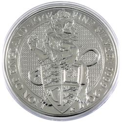 2017 Great Britain 10oz Queen's Beasts - Lion of England .9999 Fine Silver Coin in Capsule (Scratche