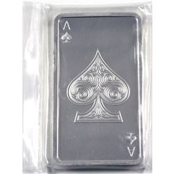 Kitco 10oz Ace of Spades Playing Card .999 Fine Silver Bar in Sealed Plastic. (TAX Exempt)