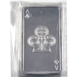 Kitco 10oz Ace of Clubs Playing Card .999 Fine Silver Bar in Sealed Plastic. (TAX Exempt)
