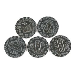 Monarch Precious Metals - Queen Nefertiti 1/10oz .999 Fine Silver Antiqued Coins. 5pcs (TAX Exempt)