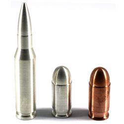 1oz .999 Fine Silver, 1oz  .999 Fine Copper Bullets & a  2oz .999 Fine Silver Bullet. 3pcs