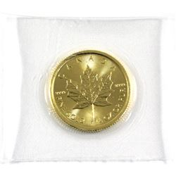 2020 Canada 1/4oz .9999 Fine Gold Maple Leaf in Sealed Mint Plastic. (TAX Exempt)