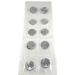 2006 Canada 1oz .9999 Fine Silver Maple Leafs in Original Sealed Plastic Sheet from the Mint! 10pcs