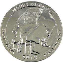 2013 USA 5oz Mount Rushmore .999 Fine Silver Round. (TAX Exempt)