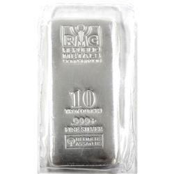 10oz Republic Metals Corporation .999 Fine Silver Bar in Sealed Plastic. (TAX Exempt)