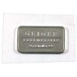 Geiger Edelmetalle 'Schloss Guldengossa' 50g .999 Fine Silver Bar in Sealed Plastic (One corner is t