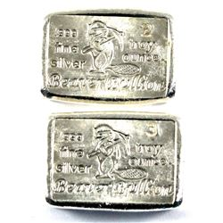 2oz & 3oz Beaver Bullion Canada 150th Special Edition Hand Poured .999 Fine Silver Bars Both Numbere