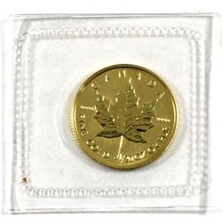1997 Canada 1/20oz .9999 Fine Gold Maple Leaf in Sealed Mint Plastic. (TAX Exempt)