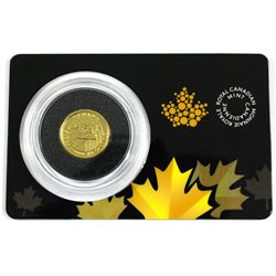 2016 Canada 1/10oz Growling Cougar .9999 Fine Gold Coin in Hard Plastic Certificate. (TAX Exempt)
