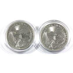 2018 & 2019 Republic of Armenia 1oz .999 Fine Silver Noah's Ark in Capsules. 2pcs (TAX Exempt)