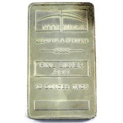 10oz NTR Metals .999 Fine Silver Bar (Toned). TAX Exempt