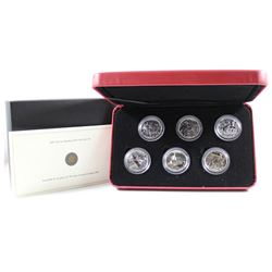 2005 Canada 50-cent Battle of Britain 6-coin Sterling Silver Set.