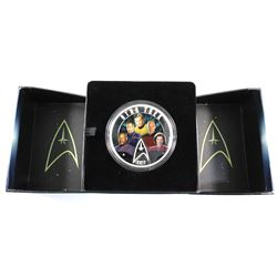 2017 Canada $30 Star Trek - Five Captains Fine Silver Coin (Capsule lightly scratched). TAX Exempt