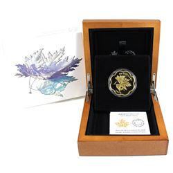 2018 Canada $20 Iconic Maple Leaves Fine Silver Gold Plated Coin. (TAX Exempt)